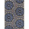 Chandra Rugs Allie Hand Tufted Wool Blue/Yellow Area Rug