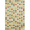 Chandra Rugs Allie Hand Tufted Wool Light Green/Burgundy Area Rug