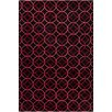 Chandra Rugs Allie Hand Tufted Wool Black/Red Area Rug