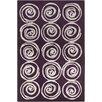 Chandra Rugs Allie Hand Tufted Wool Purple/Cream Area Rug