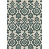 Chandra Rugs INT Hand Tufted Rectangle Contemporary Green/Cream Area Rug