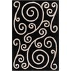 Chandra Rugs Allie Hand Tufted Wool Black/Beige Area Rug