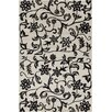Chandra Rugs Allie Hand Tufted Wool Black/White Area Rug