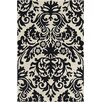 Chandra Rugs Allie Hand Tufted Wool Black/Cream Area Rug
