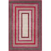 Chandra Rugs Allie Hand Tufted Wool Gray/Red Area Rug