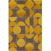 Chandra Rugs Allie Hand Tufted Wool Brown/Yellow Area Rug