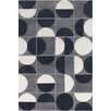 Chandra Rugs Allie Hand Tufted Wool Grey/Black Area Rug