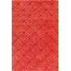 Chandra Rugs Allie Hand Tufted Wool Red/Cream Area Rug