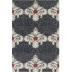 Chandra Rugs Allie Hand Tufted Wool Grey/White Area Rug