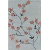 Chandra Rugs Allie Hand Tufted Wool Grey/Red Area Rug