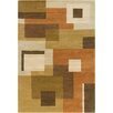 Chandra Rugs Allie Hand Tufted Wool Brown/Green Area Rug