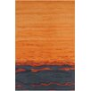 Chandra Rugs Allie Hand Tufted Wool Orange/Blue Area Rug