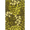 Chandra Rugs Allie Hand Tufted Wool Ovile Green/Lime Green Area Rug