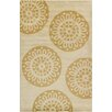 Chandra Rugs Allie Hand Tufted Wool Gold/Tan Area Rug