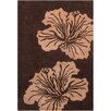 Chandra Rugs Allie Hand Tufted Wool Light Brown/Dark Brown Area Rug