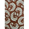 Chandra Rugs Allie Hand Tufted Wool Dark Brown/Light Blue Area Rug