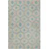Chandra Rugs Allie Hand Tufted Wool Beige/Blue Area Rug