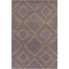 Chandra Rugs Allie Hand Tufted Wool Purple/Yellow Area Rug