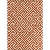 Chandra Rugs Davin Hand Tufted Rectangle Contemporary Orange/Cream Area Rug