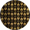 Chandra Rugs Alma Hand Tufted Round Contemporary Black/Gold Area Rug