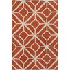 Chandra Rugs Allie Hand Tufted Wool Orange/Cream Area Rug