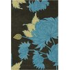 Chandra Rugs Amy Butler Black/Gray Chrysanthemum Area Rug