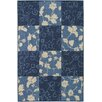 Chandra Rugs Plaza Blue Floral Area Rug