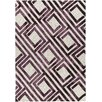 Chandra Rugs Elvo Hand-Tufted Purple/White Area Rug