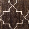 Chandra Rugs Nesco Hand-Knotted Dark Brown Area Rug
