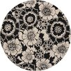 Chandra Rugs Faro Black/Gray Area Rug