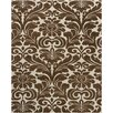 Chandra Rugs Hanu Brown/Tan Floral Area Rug