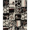 Chandra Rugs Hanu Black/Ivory Abstract Area Rug