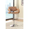 Hokku Designs Lesticia Adjustable Height Swivel Bar Stool with Cushion