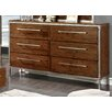 Hokku Designs Bilsen 6 Drawer Dresser with Mirror