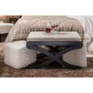 Hokku Designs Elegant Upholstered 3 Piece Bench & Ottoman Set