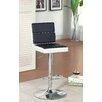 Hokku Designs Geminette Adjustable Height Swivel Bar Stool with Cushion