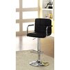 Hokku Designs Goldmember Adjustable Height Swivel Bar Stool with Cushion