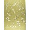 Hokku Designs Mat The Basics Blossom Green Area Rug