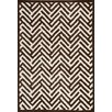Hokku Designs Tracks Brown Area Rug