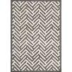 Hokku Designs Tracks Grey & Ivory Area Rug