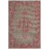 Hokku Designs Renaissance Overdyed Grey/Pink Area Rug
