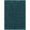Hokku Designs Pizazz Solid Teal Area Rug