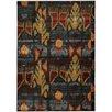 Hokku Designs Agave Tribal Grey/Blue Area Rug