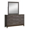 Hokku Designs Benito 6 Drawer Dresser with Mirror