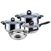 Magefesa Priminute Bohemia Stainless Steel 7 Piece Cookware Set