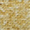 "Shaw Floors Glass Expressions 12"" x 13"" Glass Mosaic Tile in Amber"