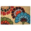 Kosas Home Flowers Doormat