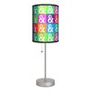"Lamp-In-A-Box Artist Budi Satria Kwan ""Peace and Love"" 20"" H Table Lamp with Drum Shade"