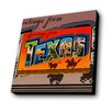 Lamp-In-A-Box Greetings from Texas Longhorn Graphic Art Plaque