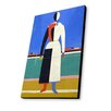 Lamp-In-A-Box Woman with a Rake by Kazimir Malevich Painting Print